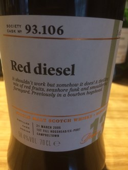 The Dramble reviews SMWS 93.106 Red diesel