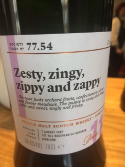 The Dramble reviews SMWS 77.54 Zesty, zingy, zippy and zappy