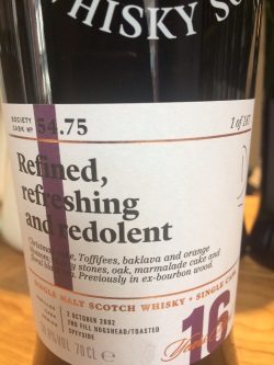 The Dramble reviews SMWS 54.75 Refined, refreshing and redolent