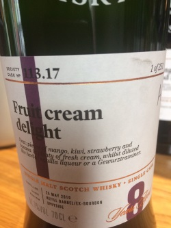 The Dramble reviews SMWS 113.17 Fruit cream delight