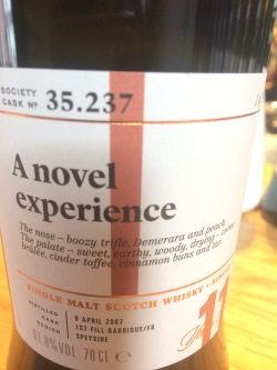 The Dramble reviews SMWS 35.237 A novel experiment