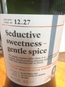 The Dramble reviews SMWS 12.27 Seductive sweetness – gentle spice