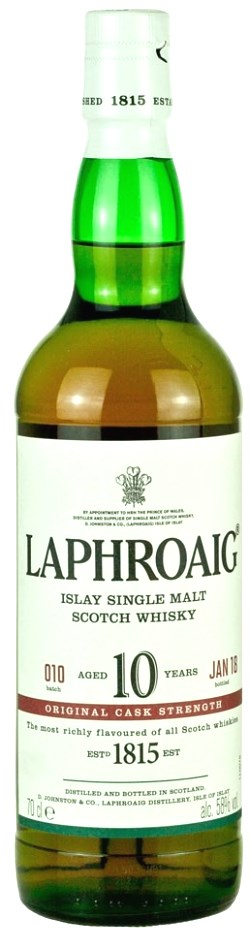 The Dramble reviews Laphroaig 10 year old Cask Strength Batch 010