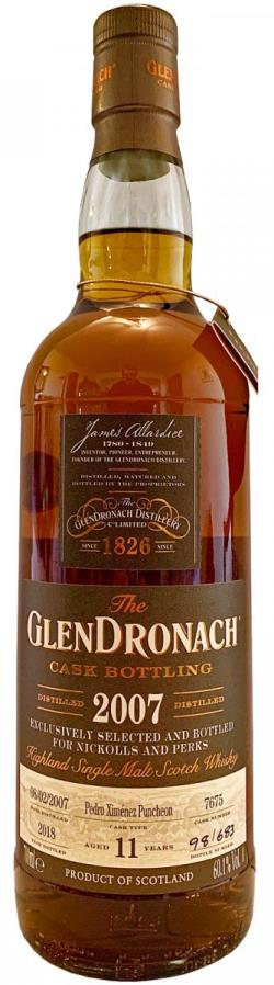 The Dramble reviews Glendronach 2007 Nickolls & Perks Exclusive