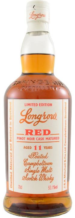 The Dramble reviews Longrow Red 11 year old Pinot Noir Cask Matured