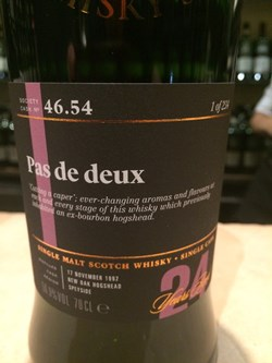 The Dramble's review of SMWS 46.54 Pas De Dex