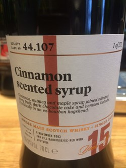 The Dramble reviews SMWS 44.107 Cinnamon scented syrup