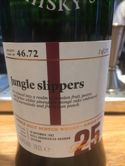 The Dramble reviews SMWS 46.72 Jungle slippers