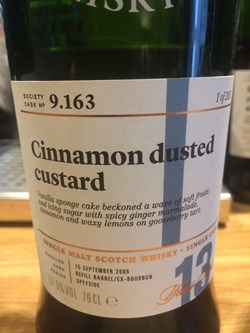 The Dramble reviews SMWS 9.163 Cinnamon dusted custard