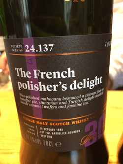 The Dramble reviews SMWS 24.137 The French polisher's delight