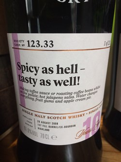 The Dramble reviews SMWS 123.33 Spicy as hell – tasty as well!