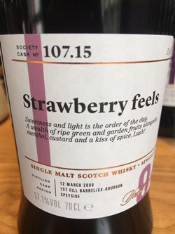 The Dramble reviews SMWS 107.15 Strawberry feels