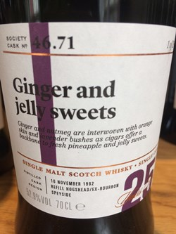 The Dramble reviews SMWS 46.71 Ginger and jelly sweets