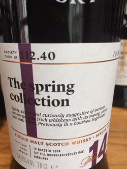 The Dramble reviews SMWS 112.40 The spring collection