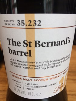 The Dramble reviews SMWS 35.232 The St Bernard's barrel
