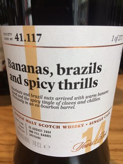 The Dramble reviews SMWS 41.117 Bananas, brazils and spicy thrills