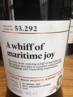 The Dramble reviews SMWS 53.292 A whiff of maritime joy