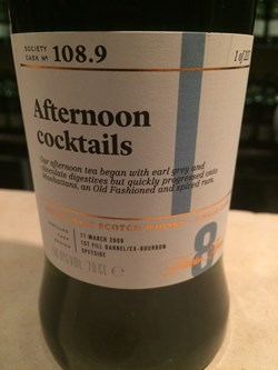 The Dramble's tasting notes for SMWS 108.9 Afternoon Cocktails