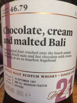The Dramble reviews SMWS 46.79 Chocolate, cream and malted Bali