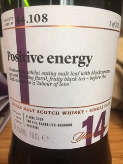 The Dramble reviews SMWS 44.108 Positive energy