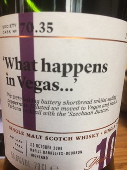 The Dramble reviews SMWS 70.35 'What happens in Vegas…'
