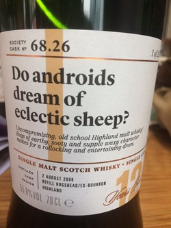 The Dramble reviews SMWS 68.26 Do androids dream of eclectic sheep?