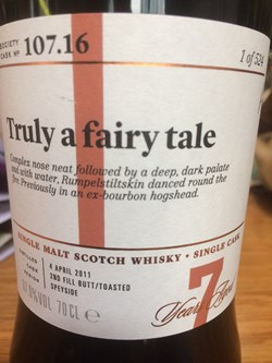 The Dramble reviews SMWS 107.16 Truly a fairy tale