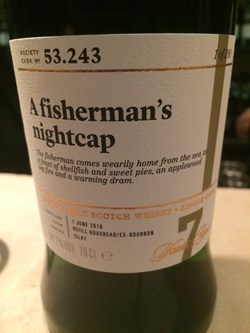 The Dramble's tasting notes for SMWS 53.243 A Fisherman's Nightcap