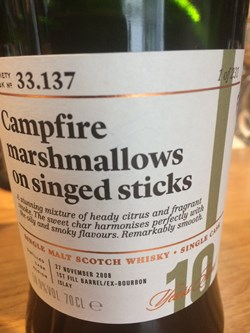 The Dramble reviews SMWS 33.137 Campfire marshmallows on singed sticks