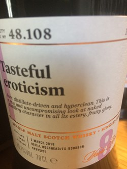 The Dramble reviews SMWS 48.108 Tasteful eroticism