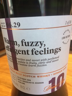 The Dramble reviews SMWS 96.29 Warm, fuzzy, effulgent feelings review