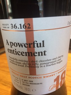 The Dramble reviews SMWS 36.162 A powerful enticement