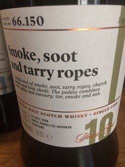 The Dramble reviews SMWS 66.150 Smoke, soot and tarry ropes