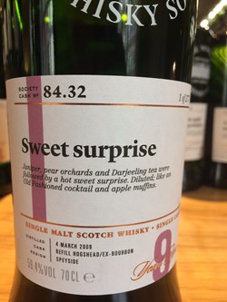 The Dramble reviews SMWS 84.32 Sweet surprise