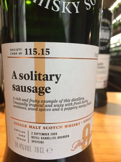The Dramble reviews SMWS 115.15 A solitary sausage