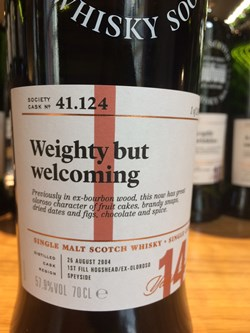 The Dramble reviews SMWS 41.124 Weighty but welcoming
