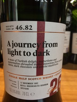 The Dramble reviews SMWS 46.82 A journey from light to dark