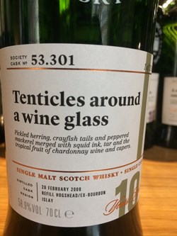 The Dramble reviews SMWS 53.301 Tentacles around a wine glass