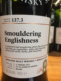 The Dramble reviews SMWS 137.3 Smouldering Englishness