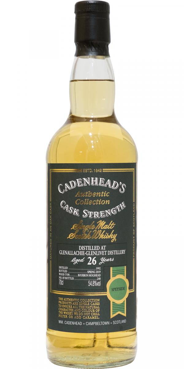 The Dramble reviews Glenallachie 1992 26 year old Cadenhead's Authentic Collection