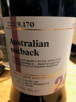 The Dramble reviews SMWS 9.170 Australian outback