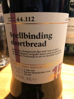 The Dramble reviews SMWS 44.112 Spellbinding shortbread