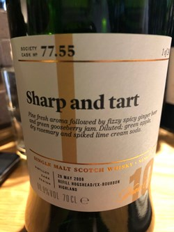 The Dramble reviews SMWS 77.55 Sharp and tart
