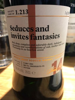 The Dramble reviews SMWS 1.213 Seduces and invites fantasies