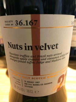 The Dramble reviews SMWS 36.167 Nuts in velvet