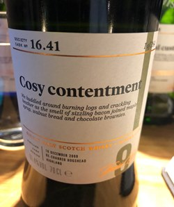 The Dramble reviews SMWS 16.41 Cosy contentment