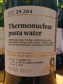 The Dramble reviews SMWS 29.264 Thermonuclear pasta water