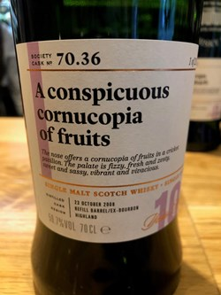 The Dramble reviews SMWS 70.36 A conspicuous cornucopia of fruit