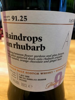 The Dramble reviews SMWS 91.25 Raindrops on rhubarb