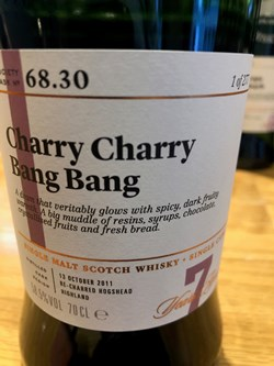 The Dramble reviews SMWS 68.30 Charry charry bang bang